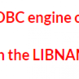 ERROR: The ODBC engine cannot be found.