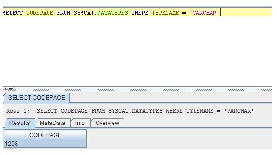select codepage