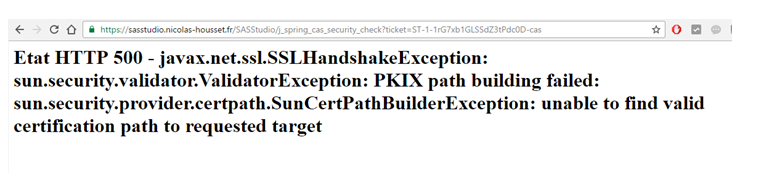 javax.net.ssl.SSLHandshakeException: sun.security.validator.ValidatorException: PKIX path building failed: sun.security.provider.certpath.SunCertPathBuilderException: unable to find valid certification path to requested target