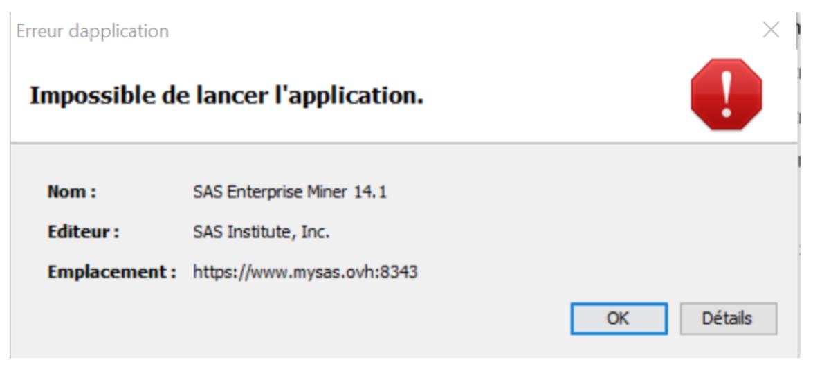 Enterprise-Miner-impossible-de-lancer-l-application