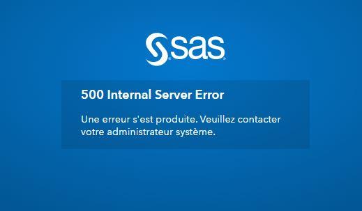 500 Internal Server Error SASLogon